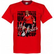 Manchester United T-shirt Legend Legend Paul Scholes Röd XS