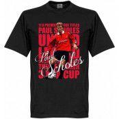 Manchester United T-shirt Legend Legend Paul Scholes Svart XS