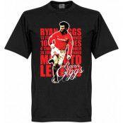 Manchester United T-shirt Legend Legend Ryan Giggs Svart XS