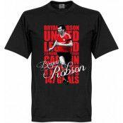Manchester United T-shirt Legend Robson Legend Svart XS