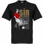 Manchester United T-shirt Legend Sir Bobby Charlton Legend Svart XS