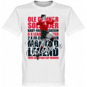 Manchester United T-shirt Legend Solskjaer Legend Vit XS