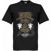 Manchester United T-shirt Trophy Collection Svart XS
