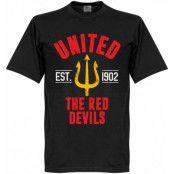 Manchester United T-shirt United Established Svart XS