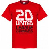 Manchester United T-shirt Winners United 20 League Champions Röd XS