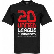Manchester United T-shirt Winners United 20 League Champions Svart XS