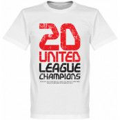 Manchester United T-shirt Winners United 20 League Champions Vit XS