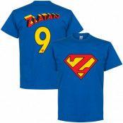 Manchester United T-shirt Zlatan 9 Superman Zlatan Ibrahimovic Blå S