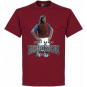West Ham T-shirt Billy Bonds Hardman Röd S