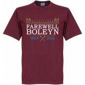 West Ham T-shirt Farewell Boleyn Stadium Vinröd S