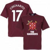West Ham T-shirt Rödbrun L