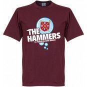 West Ham T-shirt The Hammers Bubble Vinröd L