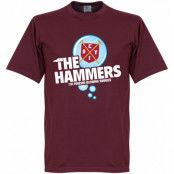 West Ham T-shirt The Hammers Bubble Vinröd S