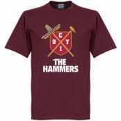 West Ham T-shirt The Hammers Rödbrun S