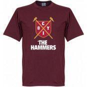 West Ham T-shirt The Hammers Shield Vinröd L