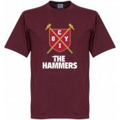 West Ham T-shirt The Hammers Shield Vinröd S