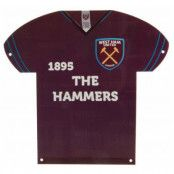 West Ham United Metallskylt Shirt