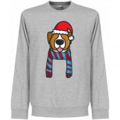West Ham Tröja Christmas Dog Supporters Sweatshirt Grå S