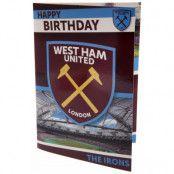 West Ham United Gratulationskort Music