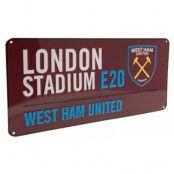 West Ham United Vägskylt Color