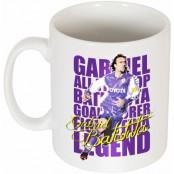 Fiorentina Mugg Gabriel Batistuta Legend Vit