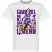 Fiorentina T-shirt Legend Batistuta Legend Vit XS
