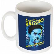 Inter Mugg Roberto Baggio Portrait Vit