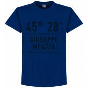 Inter T-shirt Giuseppe Meazza Coordinates Blå S