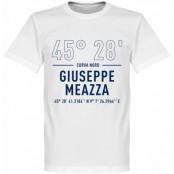 Inter T-shirt Giuseppe Meazza Coordinates Vit XS