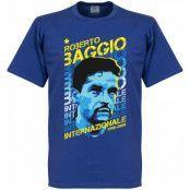 Inter T-shirt Roberto Baggio Portrait Blå L