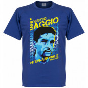 Inter T-shirt Roberto Baggio Portrait Blå S