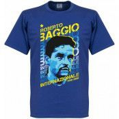 Inter T-shirt Roberto Baggio Portrait Blå XXL