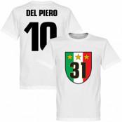 Juventus T-shirt 31 Campione  Del Piero 10 Barn Alessandro Del Piero Vit 2 år