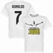 Juventus T-shirt Welcome to Juve Ronaldo Barn Cristiano Ronaldo Vit 2 år