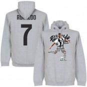 Juventus Huvtröja Ronaldo 7 Script Cristiano Ronaldo Grå S