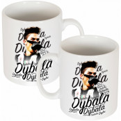 Juventus Mugg 100 Porcelain mug with an original design celebrating  Paulo Dybala Vit
