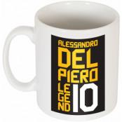 Juventus Mugg Del Piero No10 Graphic Alessandro Del Piero Vit