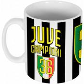 Juventus Mugg Juve Campioni 36 Vit-Svart