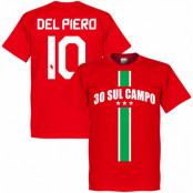 Juventus T-shirt 30 Sul Campo Del Piero Röd XS