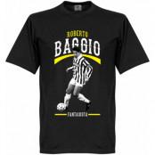 Juventus T-shirt Baggio Juve Fantasista Roberto Baggio Svart XS
