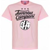 Juventus T-shirt Campioni 34 Crest Rosa S