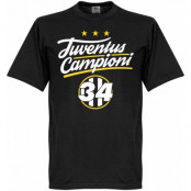 Juventus T-shirt Campioni 34 Crest Svart XS