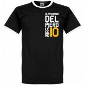 Juventus T-shirt Del Piero Ringer Alessandro Del Piero Svart-Vit XXL