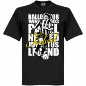 Juventus T-shirt Legend Nedved Legend Svart XS