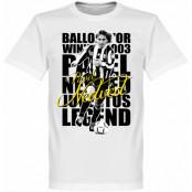 Juventus T-shirt Legend Nedved Legend Vit XS