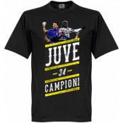 Juventus T-shirt Player Campioni 34 Svart XS