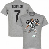 Juventus T-shirt Ronaldo 7 Script Cristiano Ronaldo Grå S