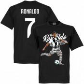 Juventus T-shirt Ronaldo 7 Script Cristiano Ronaldo Svart XS