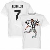 Juventus T-shirt Ronaldo 7 Script Cristiano Ronaldo Vit XS