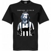 Juventus T-shirt Winners 2015 Pirlo Campioni DItalia Andrea Pirlo Svart XS